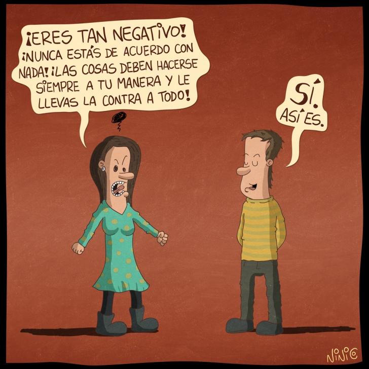 pesimista, negativo, pareja, conversar