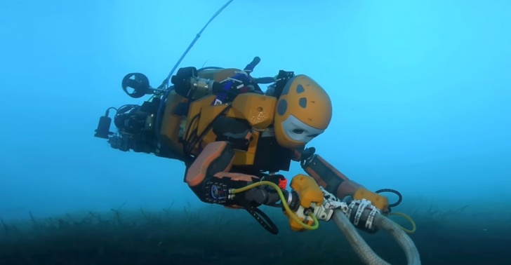 Océano, mar, submarino, robot, tecnología
