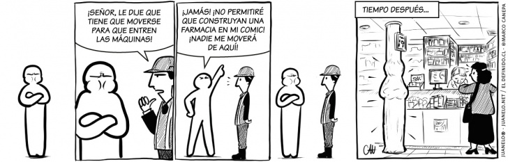 farmacias, protestas, comic, regreso