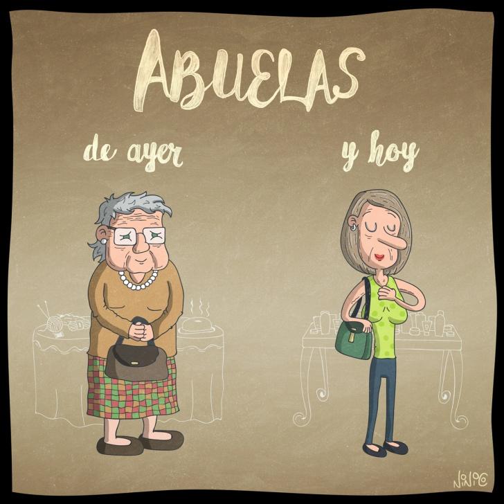abuelas, ancianas, vieja, cambios, tejer, cremas