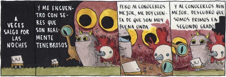 Monstruos, Amistad, Familia, Amigos, Noche, Soledad, Comic, Chile