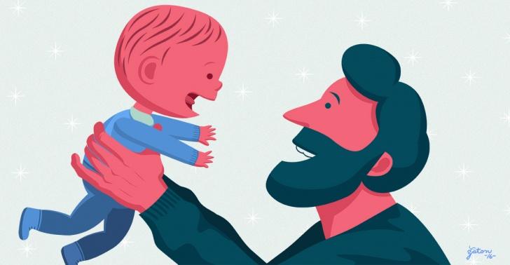 paternidad, padre, hijos, niños, vida, sacrificio, felicidad