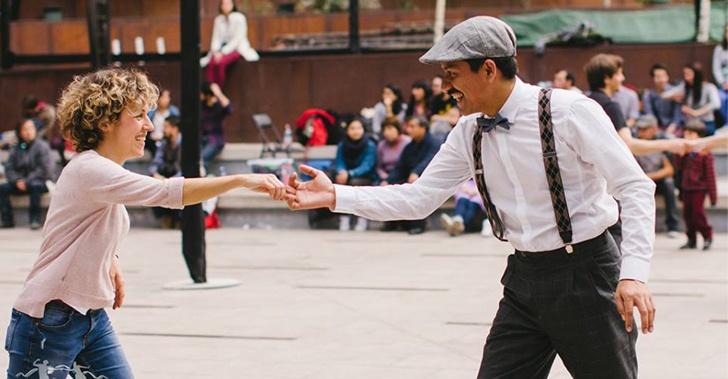 bailes, Milonga, Swing, espacio público, Santiago, Swingtiago, Milonga Callejera