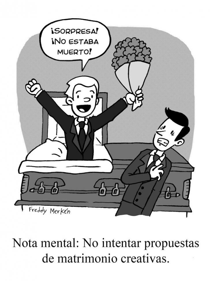 Amor, Matrimonio, Muerte, Funeral, Sorpresa, Propuesta, Original