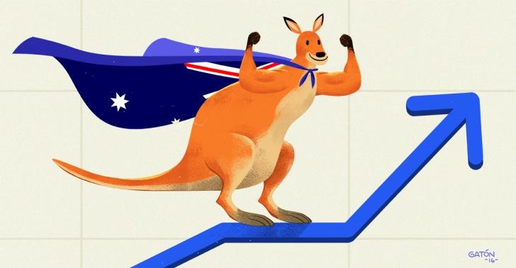Australia, economía, crecimiento, bienestar