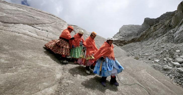 cholitas, bolivia, aymara, cordillera de los andes, aconcagua, andinismo, indigena, mujer