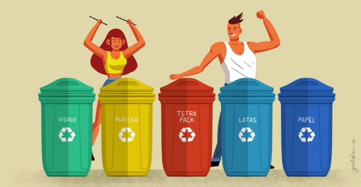 reciclaje, sustentabilidad, punto limpio, ecología, basura, desechos, residuos