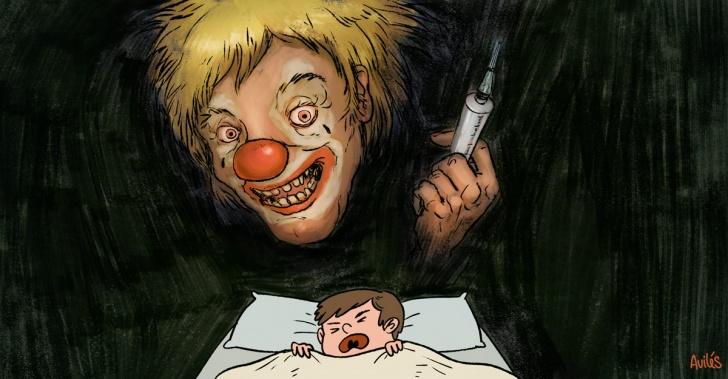 miedos, terror, infancia, oscuridad, payasos, jeringas, historias de terror, Halloween