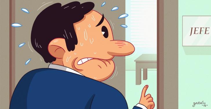 situaciones incómodas, verdad, aumento de sueldo, funeral, amistad, trabajo, oficina