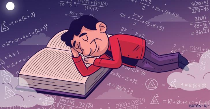 estudiar, dormir, pasar, largo, siesta, entre, medio, estudio, ciencia