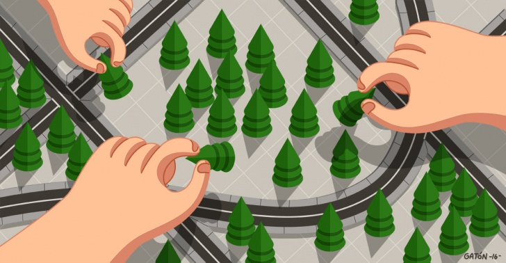 árboles, mapa, paisaje urbano, ciudad, nueva york, ciudad verde, vegetación, parques