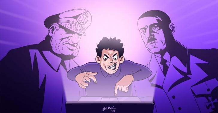 discusiones, trolls, pasión, diálogo, Facebook, Ley de Godwin, Hitler, Pinochet