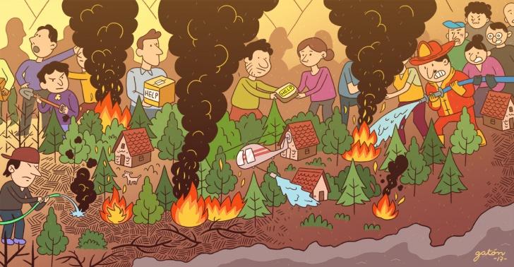 incendio, Chile, ayuda, SOS, incendio forestal