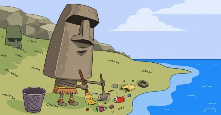 Rapa Nui, Isla de Pascua, residuos, playas, gestión ambiental, reciclaje, basura
