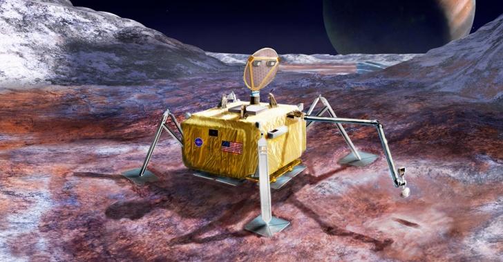 satélite, NASA, Europa, Júpiter, vida, misión, Europa Lander