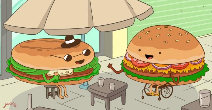 inclusión, no oyentes, hamburguesas, sándwiches, restaurant