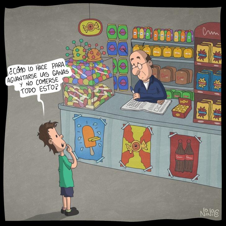 niños, infancia, dulces, golosinas, almacén, duda, pregunta