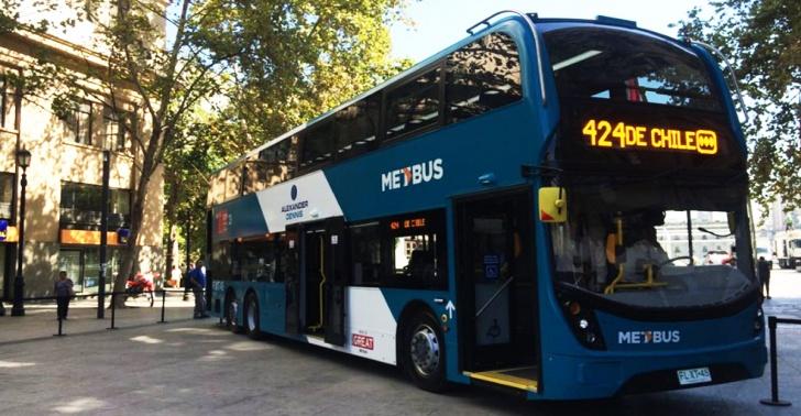 Transantiago, bus, transporte público, micro, Santiago, Metbus