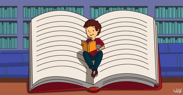 ver, comer, leer, pelicula, cafeteria, libro