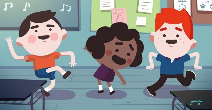 pausas activas, concentración, actividades, ejercicio, videos, aula, colegios, profesores, alumnos.