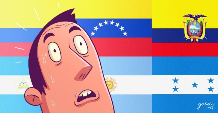 bandera, paises, ecuador, colombia, venezuela, nicaragua, argentina