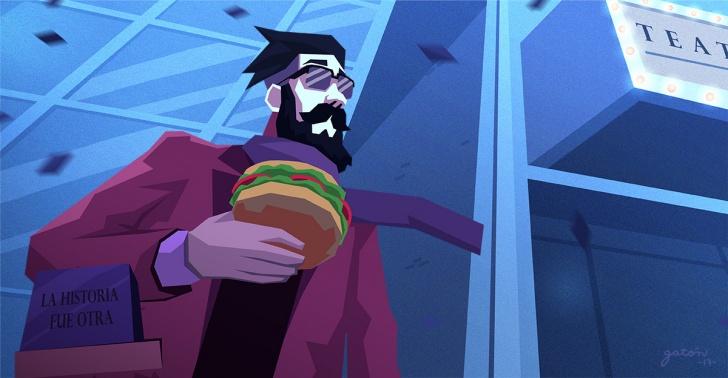 panorama, frio, leer, comer, hamburguesa, pelicula