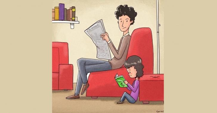 Lectura, niños, padres, incentivar, libros
