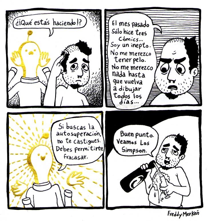 Autobiográfico, Artista, Comics, Inepto, Pelo, Merecer, Fracasar, Simpson