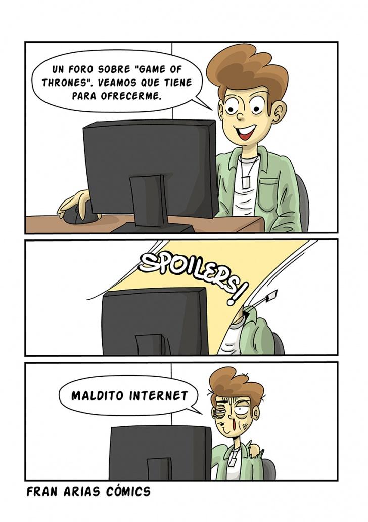 spoiler, internet, usuario, series tv, humor