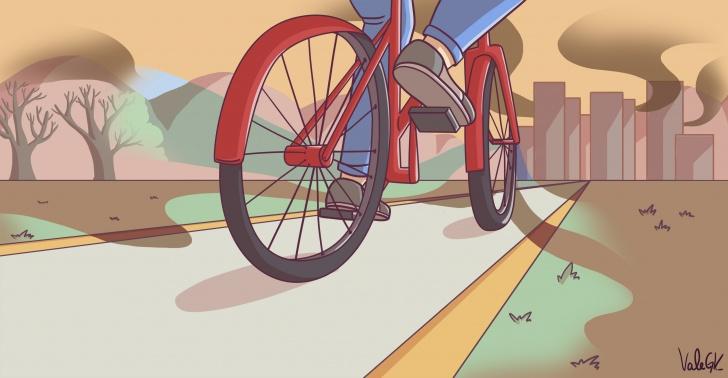 Contaminación, Bicicletas, Medio ambiente, China