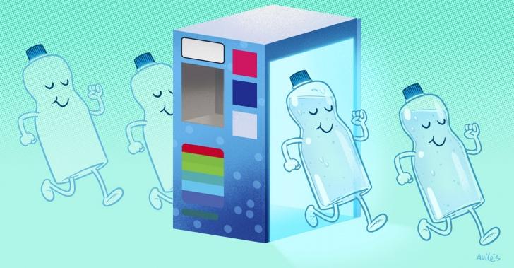 Agua purificada, reutilización, plástico, medioambiente