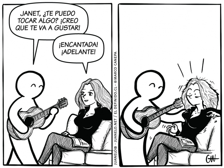 tetas, guitarra, música, músicos, Janet, mujeres, hombres, parejas, acoso, agarrón