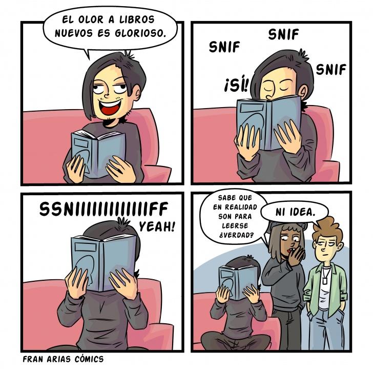 Libros,amigos, oler, chicas,literatura.