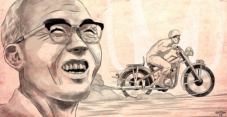 Soichiro Honda, mecánico, autmóviles, motocicleta, Honda, éxito, esfuerzo, trabajo