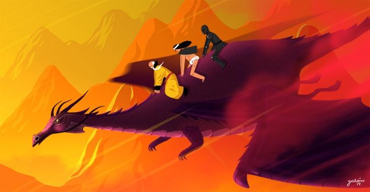dragones, game of thrones, tolkien, fantasía, mitología, origen, estudios, historia