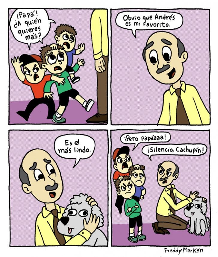 padre, hijos, familia, perro, mascota, amor, favorito