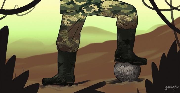 farc, colombia, guerrilla, fútbol, deporte