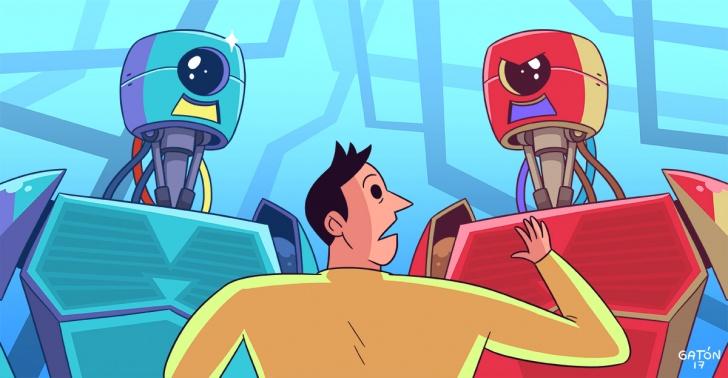 inteligencia artificial, robots, trabajo, futuro, automatización