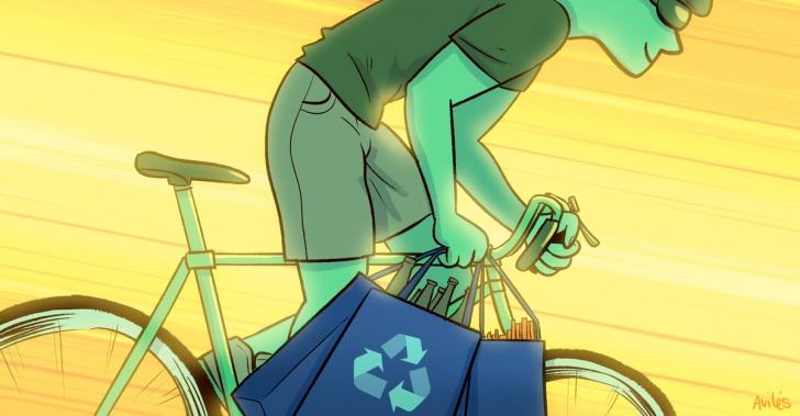 Bicicla, reciclaje, punto limpio, residuos, basura, recicladores, bicicladores, aplicación.