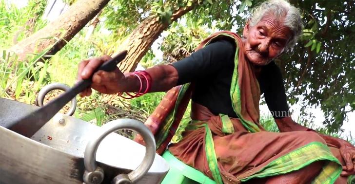 youtube, tercera edad, cocina, gastronomía, India