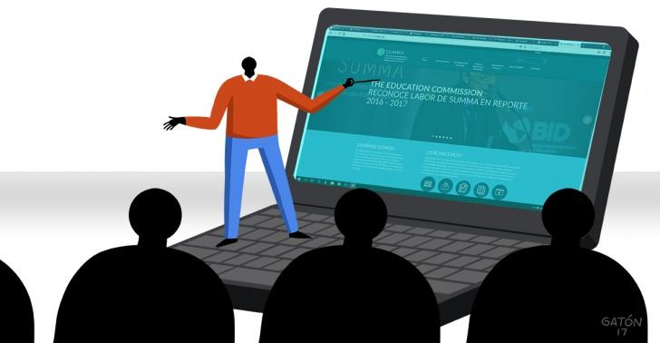 educación, plataforma online, estrategias educativas