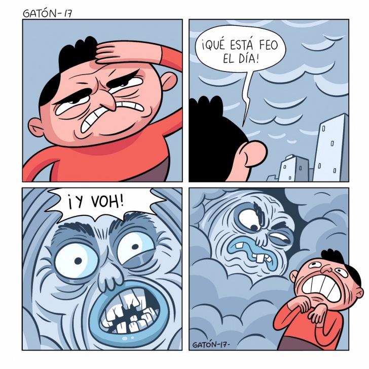 clima, tiempo, nubes, enojo, comentario, nubosidad, feo, horrible, asqueroso