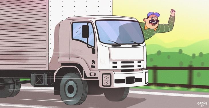camiones, recursos humanos, trabajadores felices, laboral