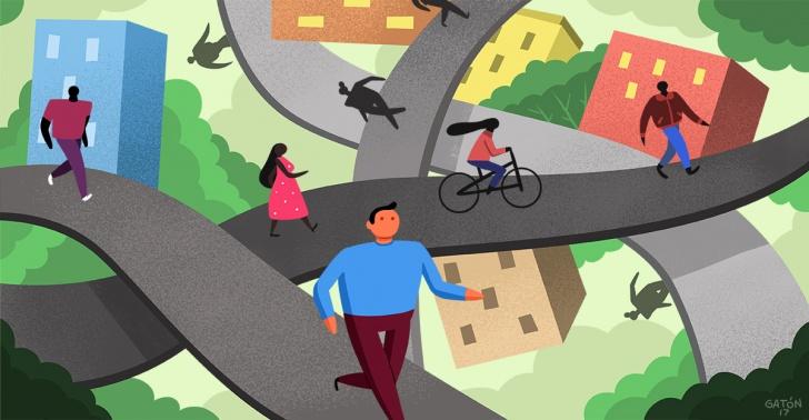 nueva york, paris, ciudades, peatonal, caminable
