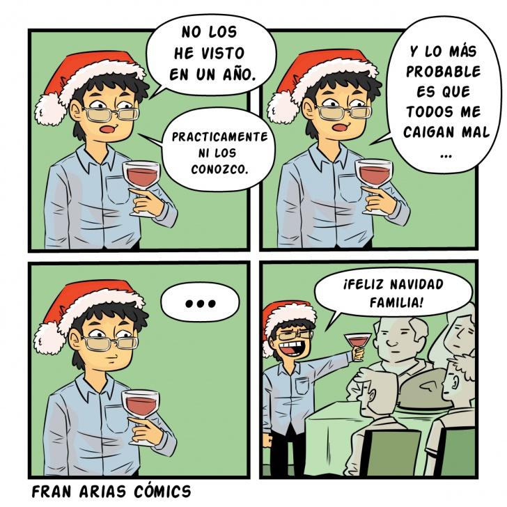 Navidad, familia, desconocidos, cenas, diciembre.