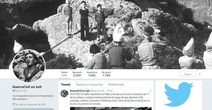 historia, Guerra Civil Española, Twitter