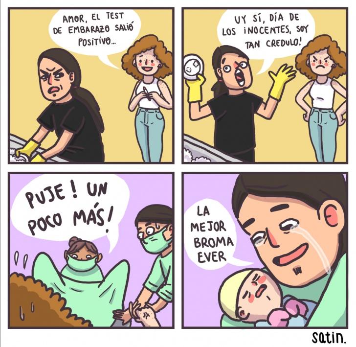 broma, embarazo, bebé, paternidad, papá