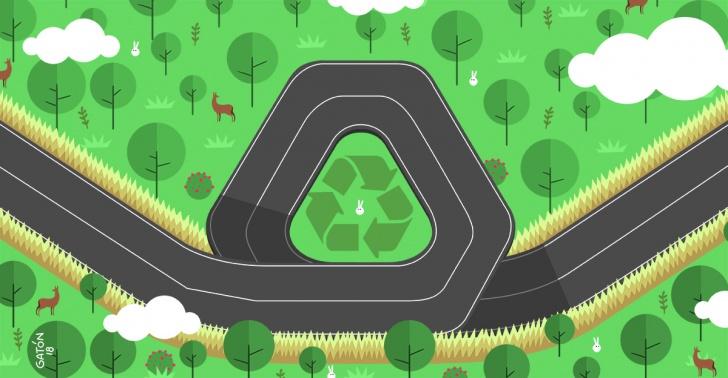carreteras, caminos, ecológicas, energía, sustentable, seguridad, The Ray, Georgia.
