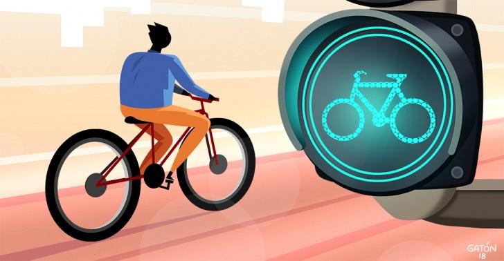 bici, bicicleta, santiago, ciudad, boom, ciclovia