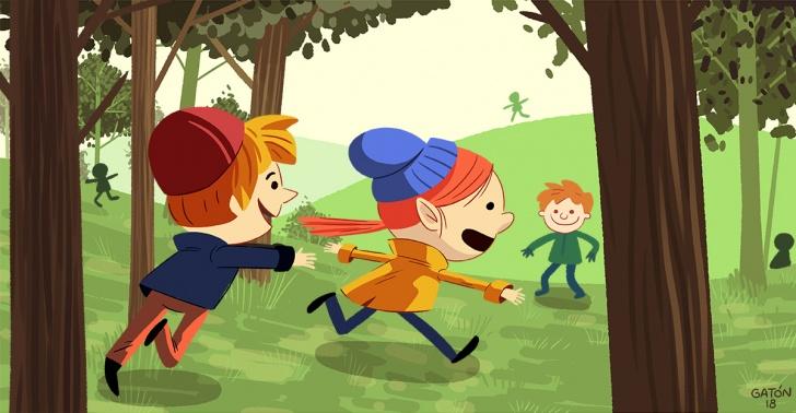 Niños, jardines infantiles, bosques, naturaleza, habilidades, Dinamarca, enfoque.